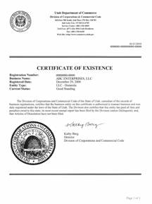 Utah good standing certificate ut certificate of existence example of a utah certificate of good standing yadclub Image collections